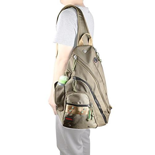 Larswon Sling Bag for Bag Men, Bag Women, Backpack, Backpack Army