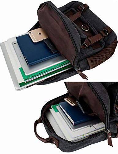 Mygreen Backpack Men and Women Shoulder Single Strap Backpacks Canvas Laptop Cross Body for Travel, School, Sport