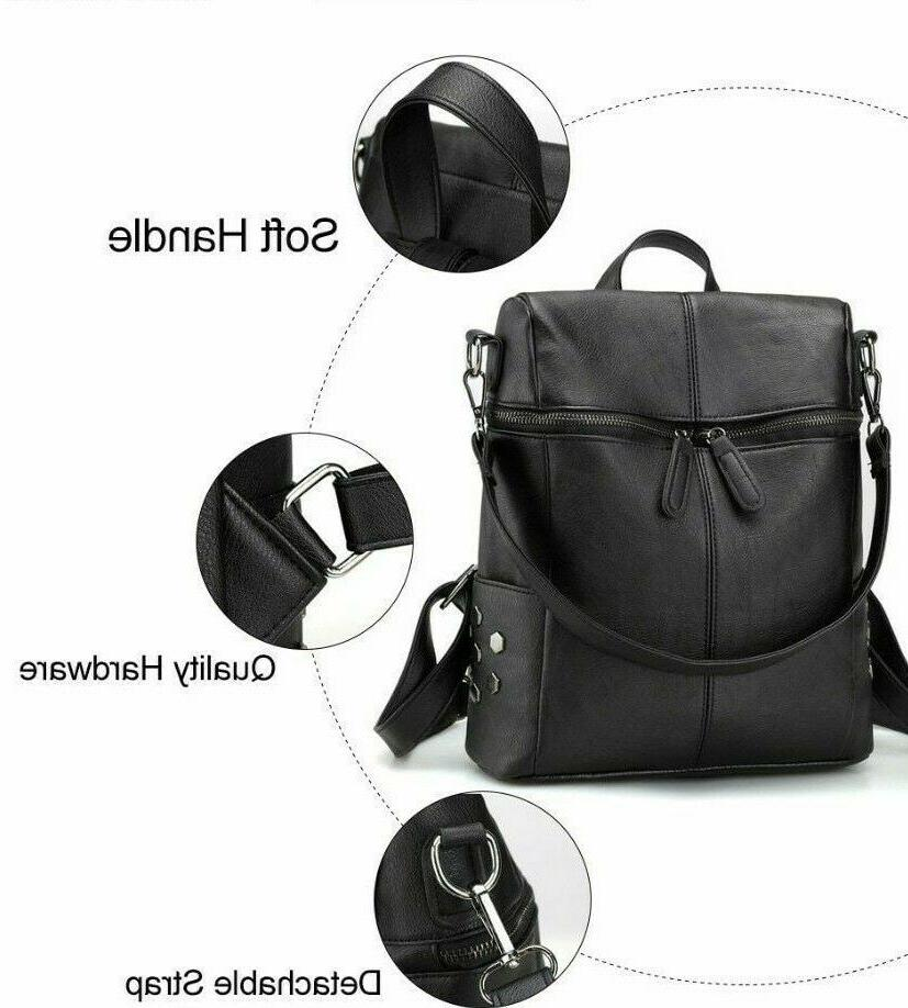 Solid Backpacks Women's Shoulder Zipper