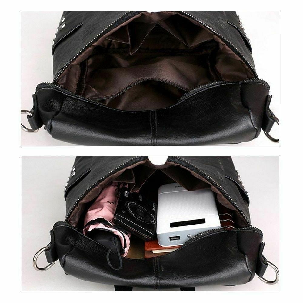 Solid Backpacks Zipper