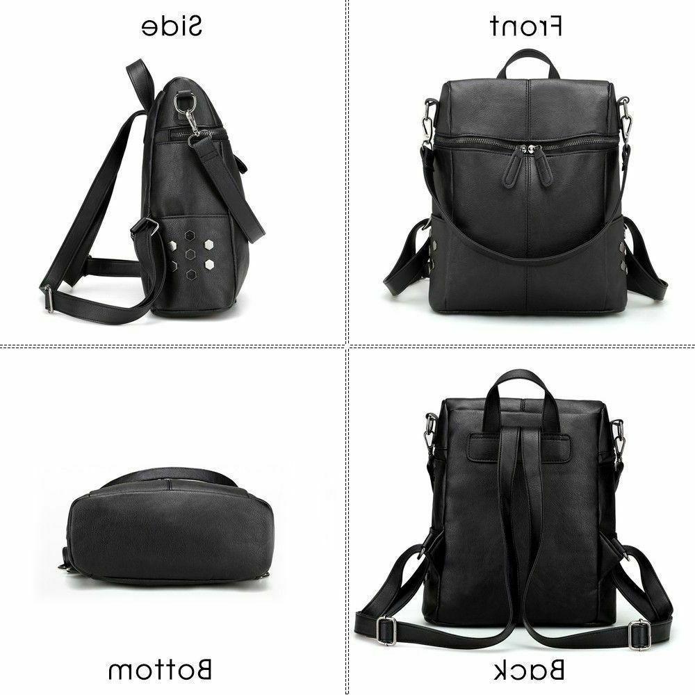 Solid Shoulder Strap Rivet Zipper Closure Bags