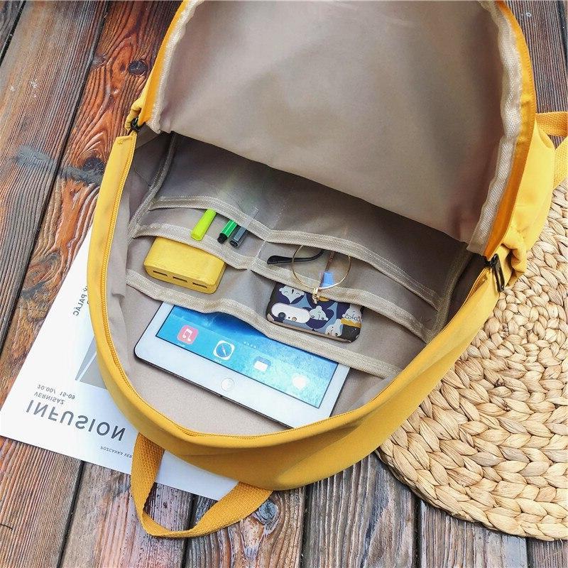 HOCODO Color For Women Waterproof Nylon Pocket Travel <font><b>Backpacks</b></font> Large Bag Teenage