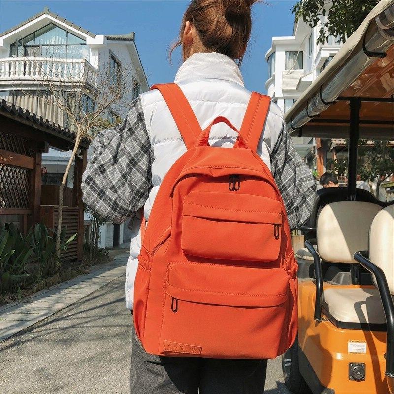 HOCODO Color <font><b>Backpack</b></font> For Women Nylon Multi Pocket Bag For Teenage