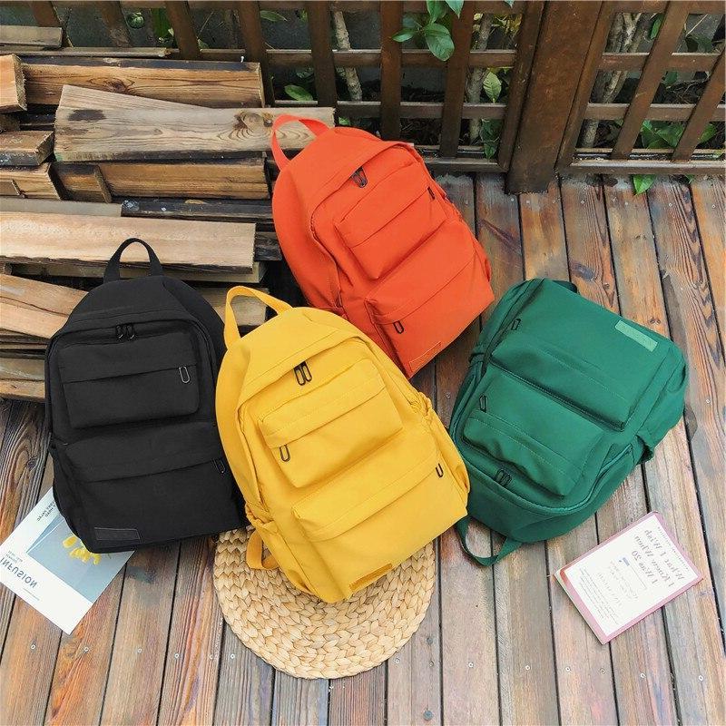 HOCODO Solid For Women Waterproof Nylon Multi Travel <font><b>Backpacks</b></font> Large Capacity Bag For Teenage