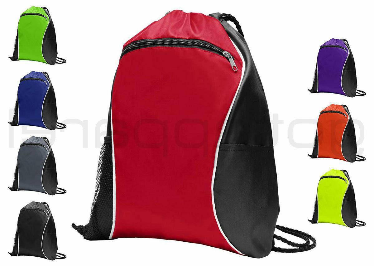 string drawstring backpack cinch sack gym tote