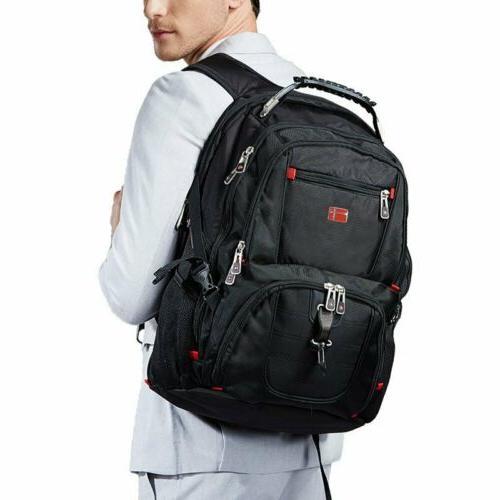 Swiss Waterproof Laptop Backpack Charge Port Schoolbag