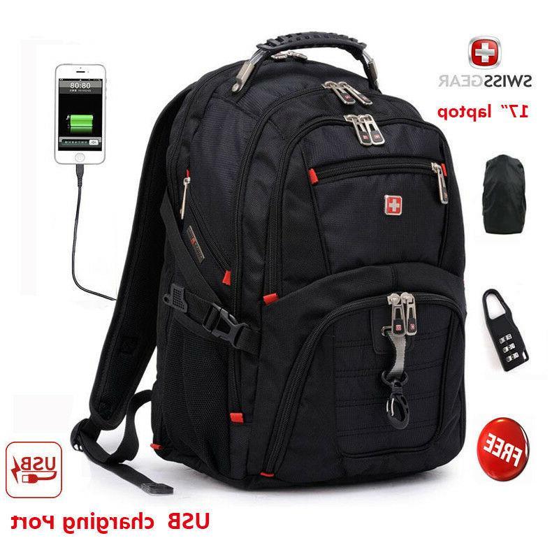 """SwissGear Multifunctional USB Port 17"""" laptop backpack Water"""