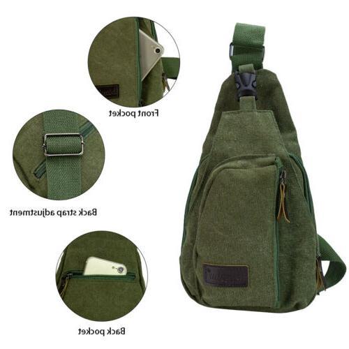 Men Backpack Molle Sling Chest Shoulder Bag Travel
