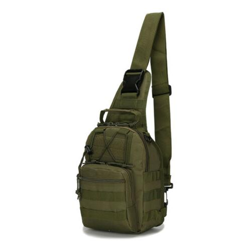 Tactical Bag Men's Molle Crossbody Sling Messenger Shoulder Pack