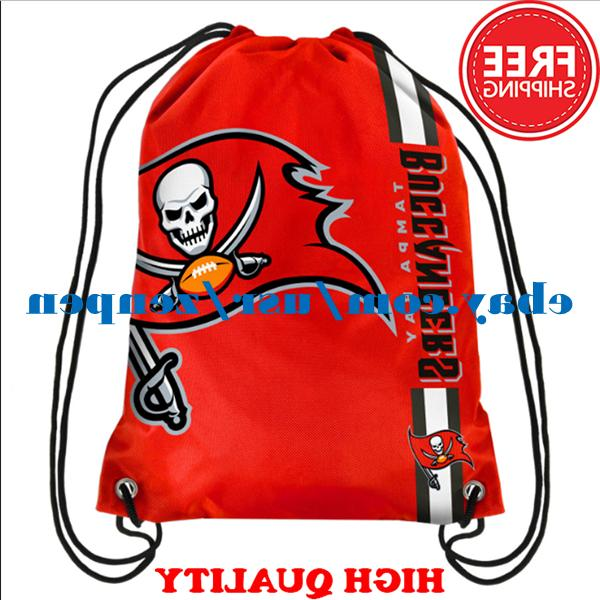 Tampa Bay Buccaneers Logo Drawstring Backpack Fan Gym Sport