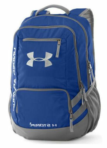 Under Armour Unisex Team Hustle Backpack, Royal /Silver, One