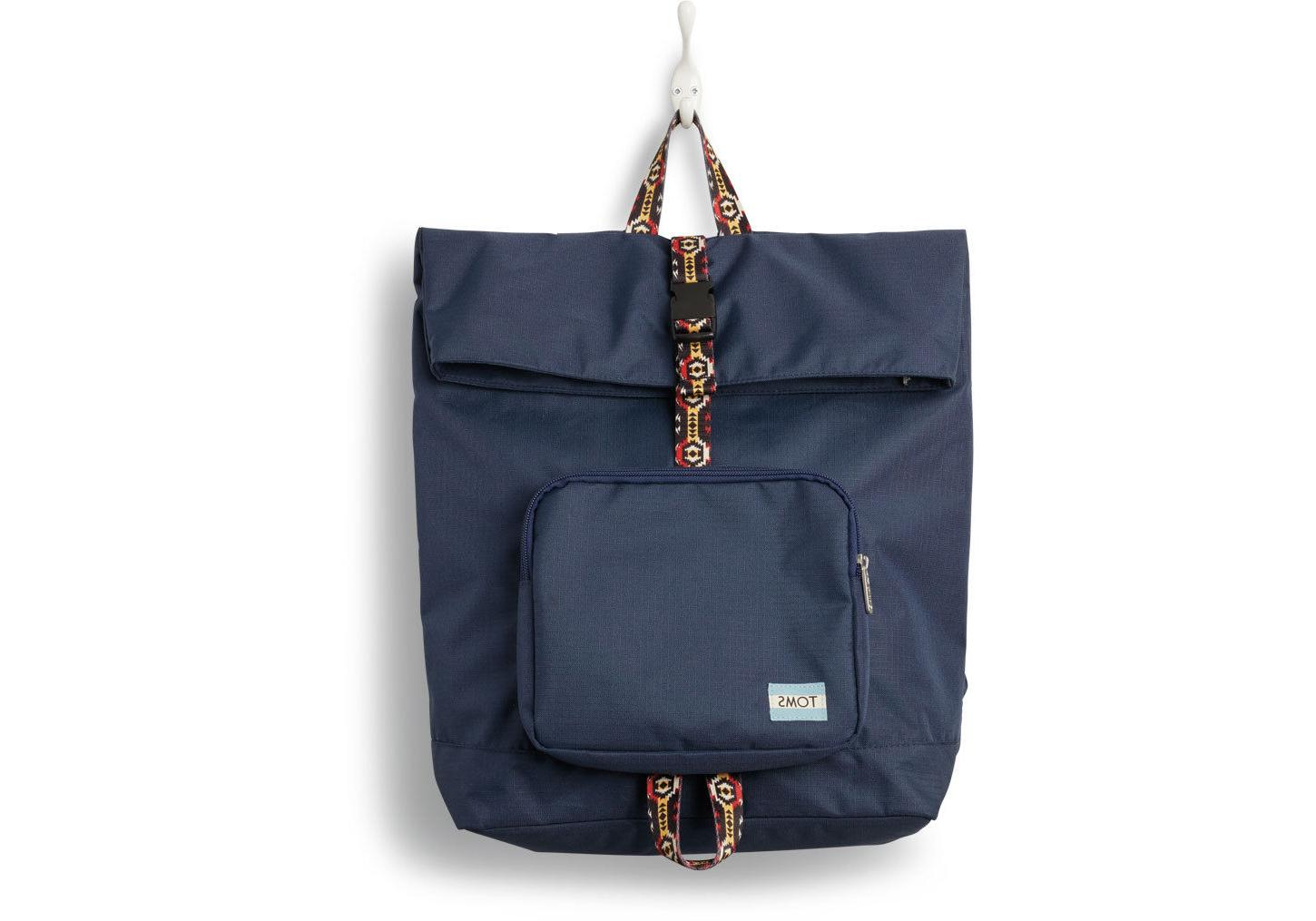 tom s stand up solid navy backpack