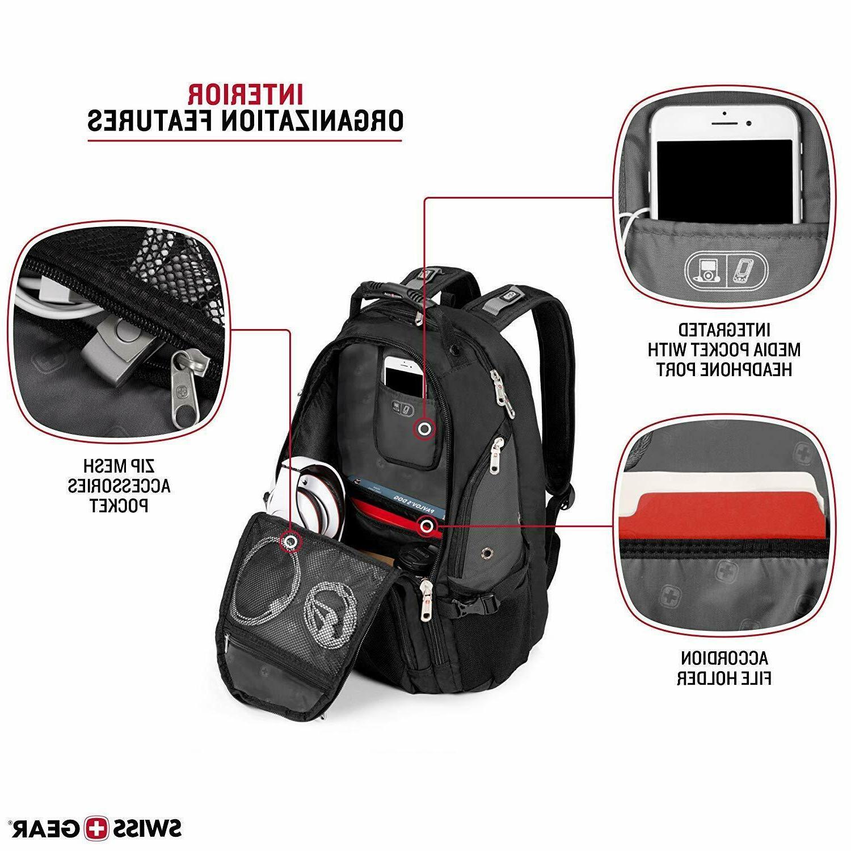 SwissGear Travel Scansmart TSA Backpack Black/Gray