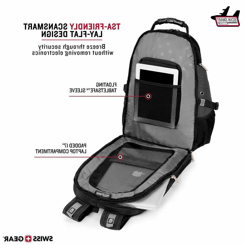 SwissGear Travel Gear Scansmart TSA Laptop Backpack Black/Gray