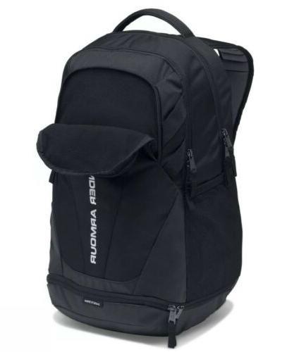 Under Armour Hustle 3.0 Storm™ Black Water Backpack Book Bag