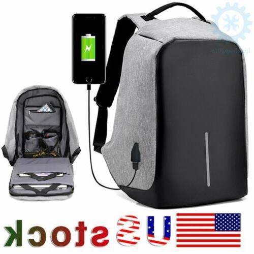 unisex anti theft backpack laptop travel school