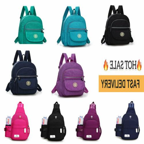 unisex mini nylon solid backpack purse small