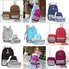 us 3pcs set women backpack canvas travel
