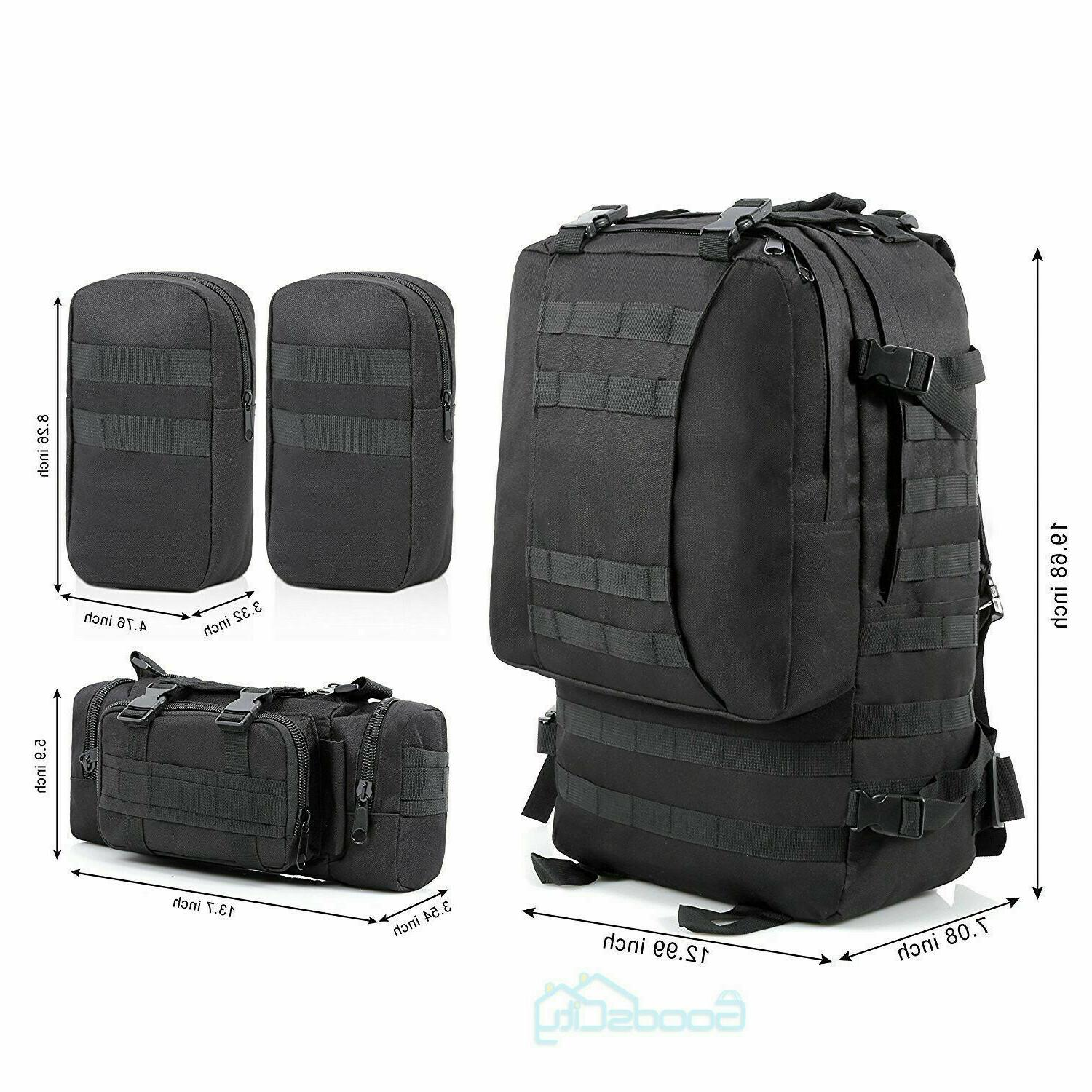 US 55L Molle Military Tactical Hiking Trekking