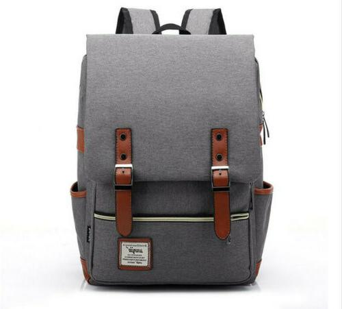 US Unisex Canvas Backpack School Rucksack