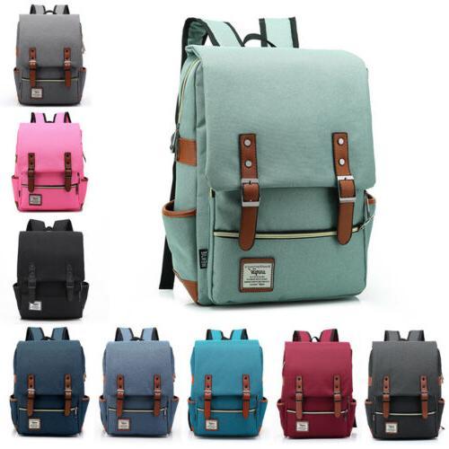 canvas leather travel backpack rucksack laptop school