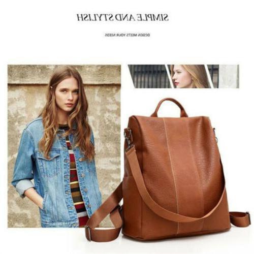 USA Women's Leather Anti-Theft Rucksack Bag