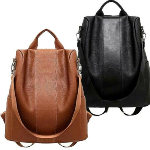 usa womens leather backpack anti theft rucksack