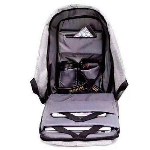 USB Charging Mens Womens Travel Bag