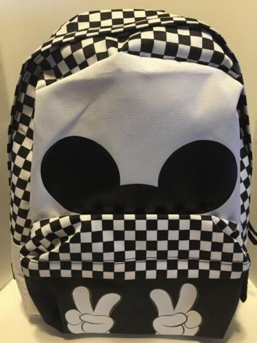 vans sneakers checkerboard mickey mouse realm bookbag
