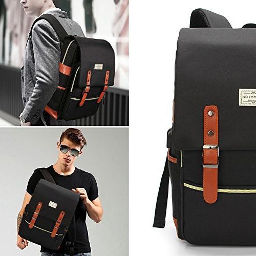 Modoker Vintage Backpack for Men,School Backpack Port Backpack 15 inch