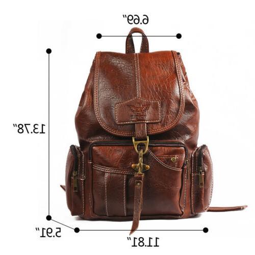 Vintage Leather Shoulder Shoulder Satchel HandBag Travel