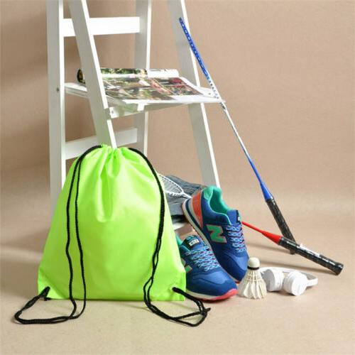 Water-Proof Solid Color Drawstring Backpack Duffle Sports Bag