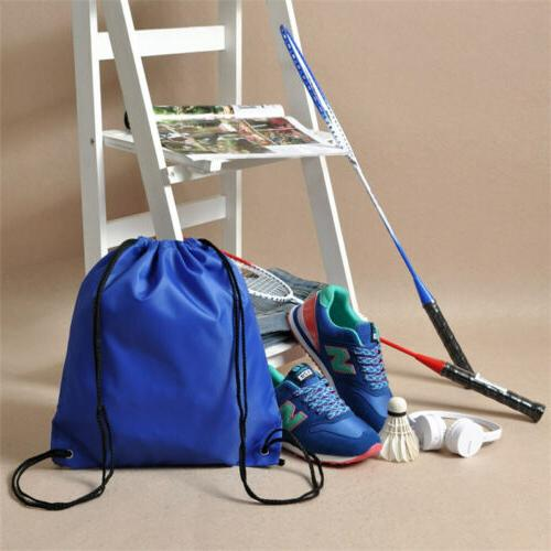 Water-Proof Solid Color Drawstring Backpack Travel Duffle Sp