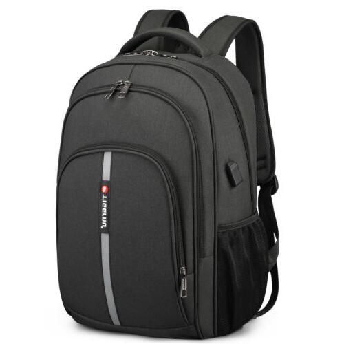 Waterproof Laptop Backpack Heavy-duty Bag Port