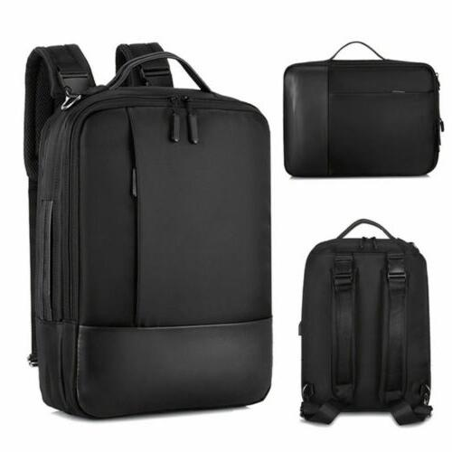 Waterproof Laptop Men Women Anti-theft School Travel Bag USB Port