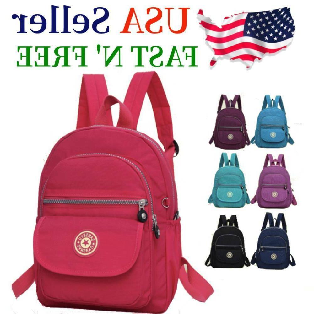 waterproof mini backpack women purse nylon shoulder