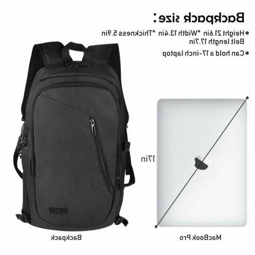 """Waterproof Travel Men 17""""Laptop School Bag"""