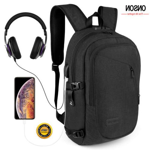 "Waterproof Swiss Travel Backpack Men 17""Laptop multifunction"