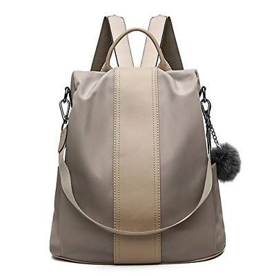 Women Backpack Purse Waterproof Nylon Anti-theft Rucksack Sc