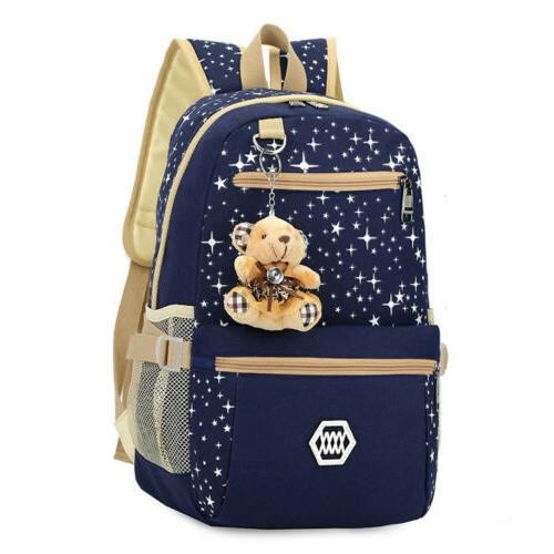 3Pcs Set Women School Backpack