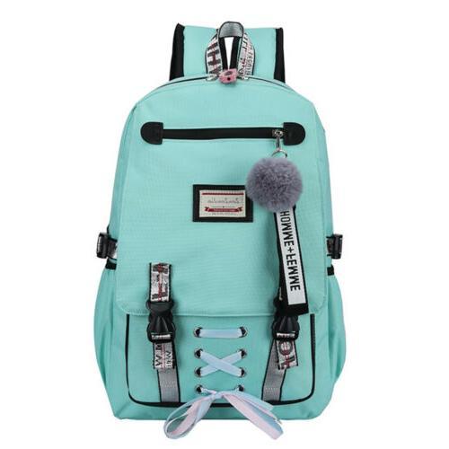 Women Girls Bag Waterproof Theft USB Bookbag