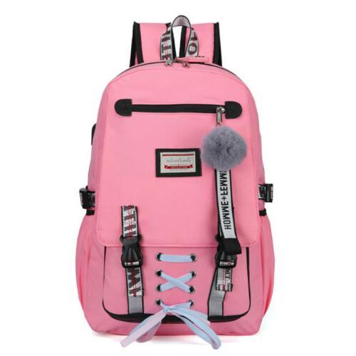 Women Canvas Girls Bag Theft USB