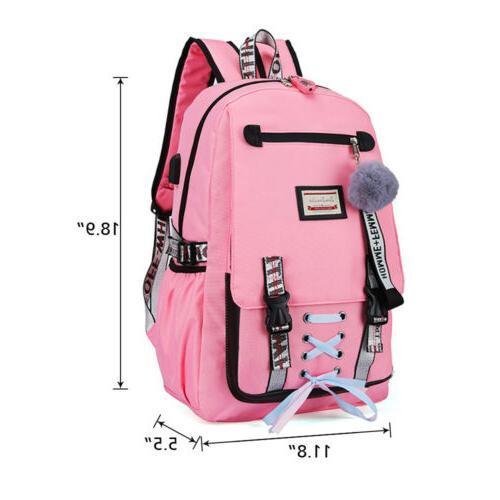 Women Canvas School Bag Theft