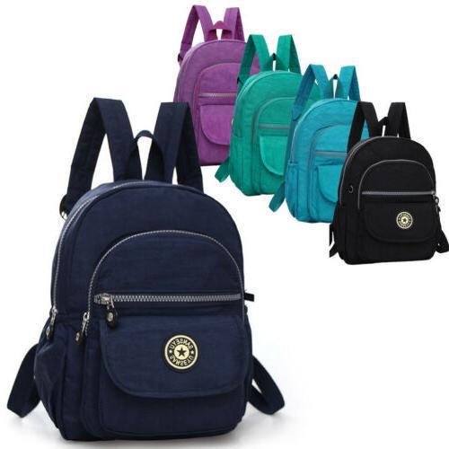 Mini Backpack Purse Nylon Small Backpack Shoulder Rucksack B