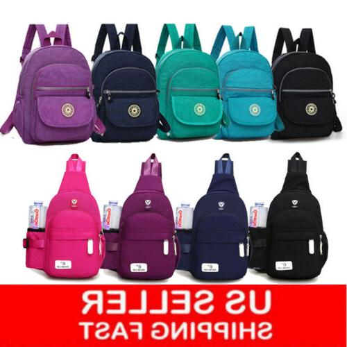 women girl backpack travel nylon handbag rucksack