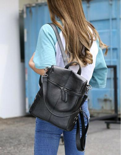 PU Leather Handbag Rucksack Shoulder