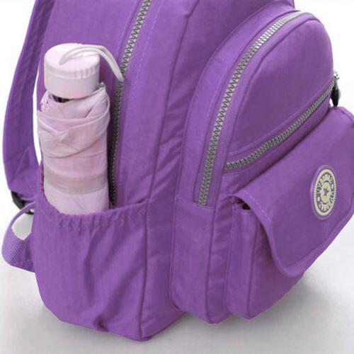Women Girl Nylon Rucksack Mini Shoulder School