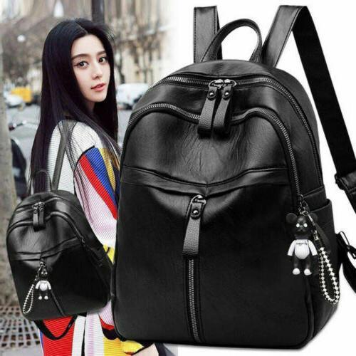 Women Girls Lady Rucksack School Bag Black