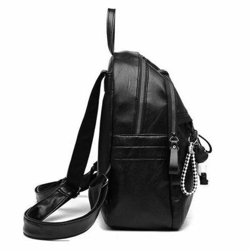 Women Girls Lady Backpack Rucksack School Black