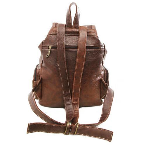 Women Leather Shoulder School Travel Bag